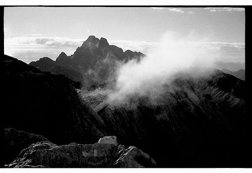dawn on the alps