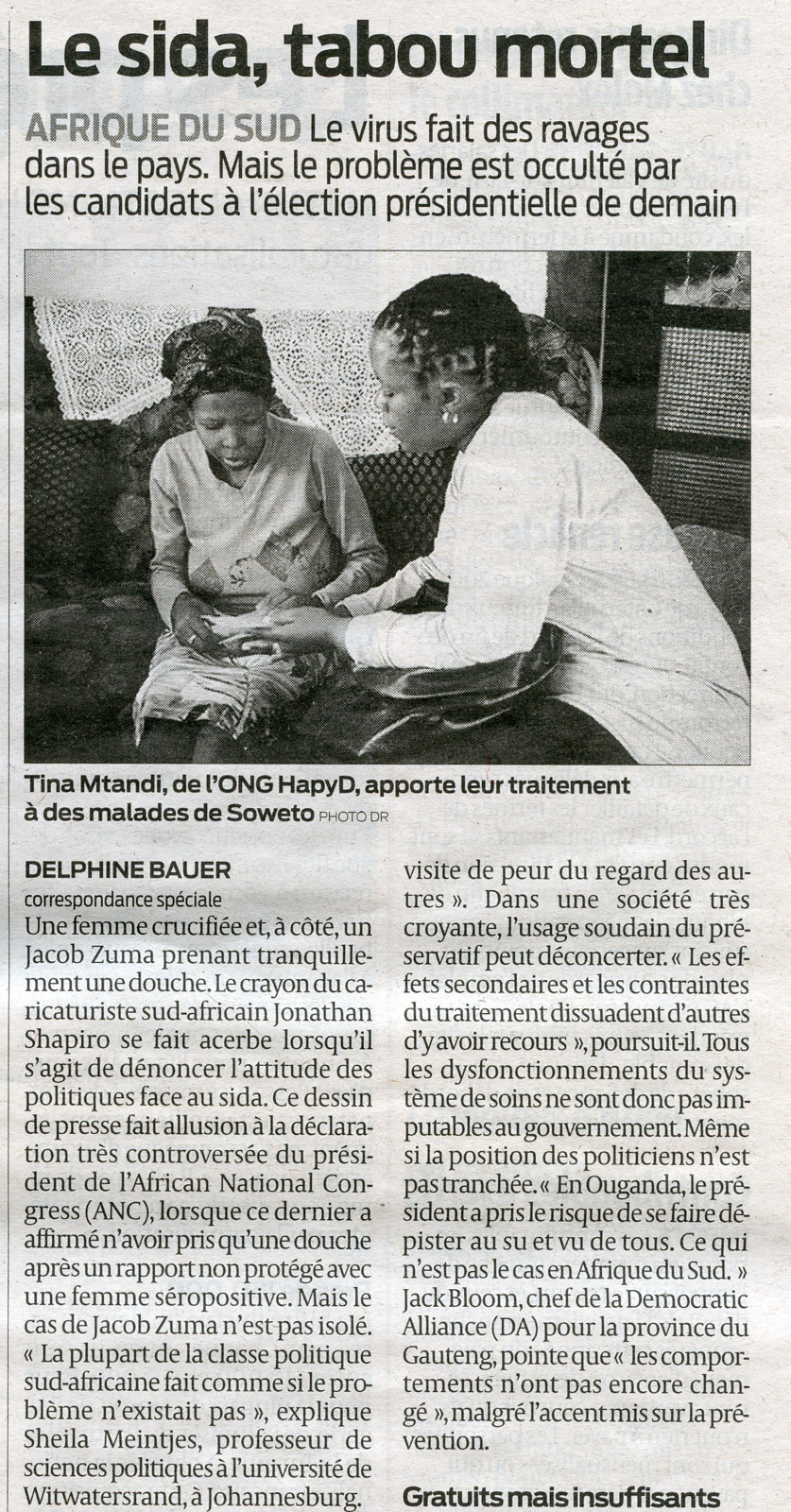 Sud-Ouest 21 avril 2009