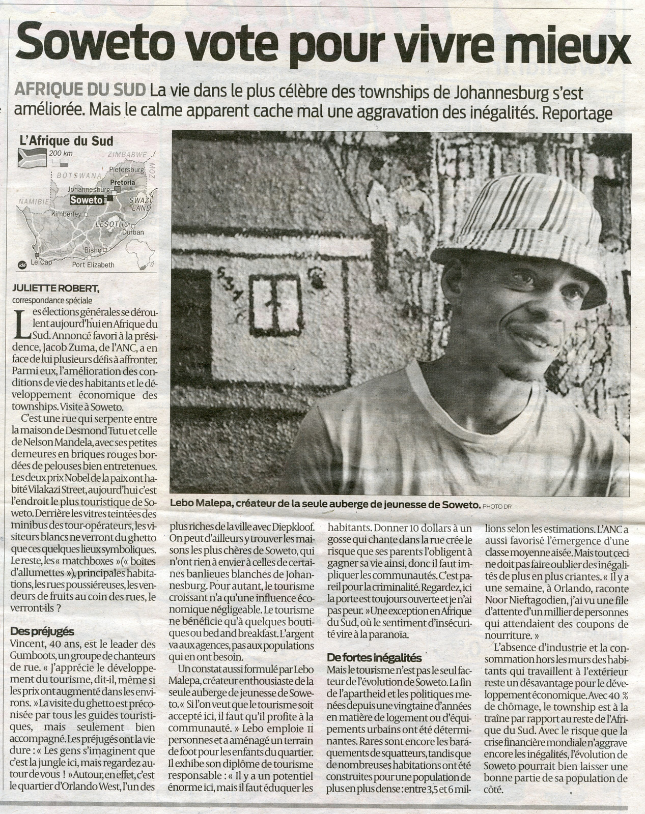 Sud-Ouest 22 avril 2009