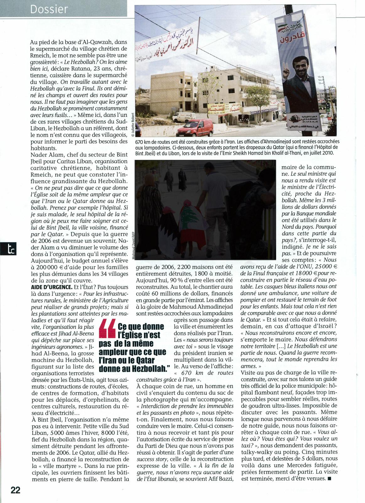 Témoignage Chrétien - décembre 2010