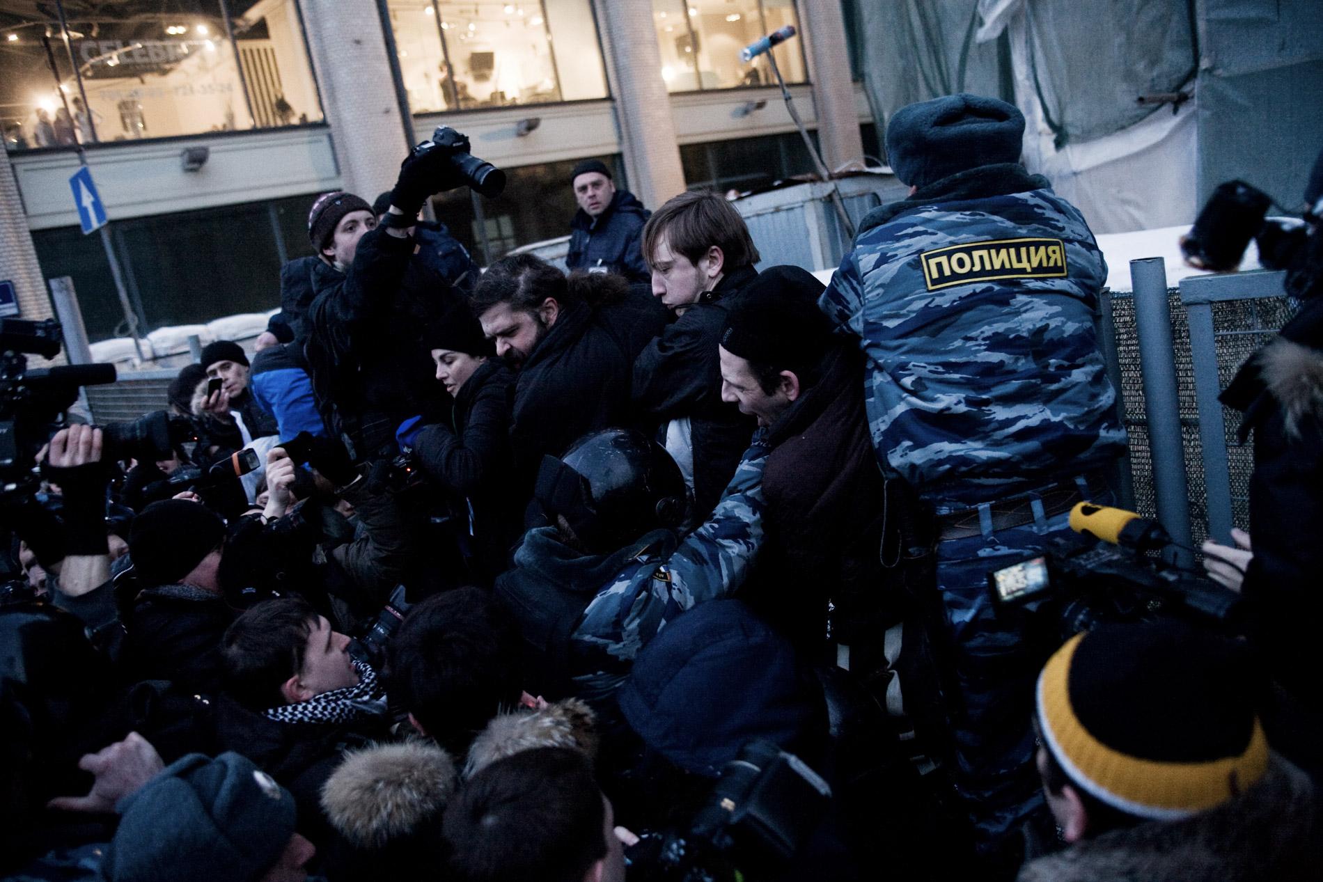 Des opposants a Vladimir Poutine, de la coalition