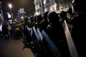 Manifestation de l'opposition a Vladimir Poutine, place Pouchkine, le 5 mars 2012 a Moscou. thumbnail