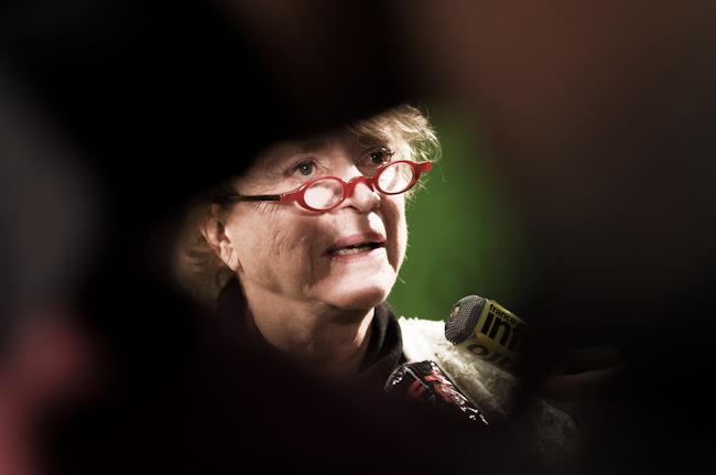 Eva Joly, candidate du parti Europe Ecologie Les Verts