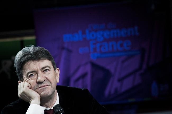 Jean-Luc Mélenchon, candidat du Front de Gauche, au débat de la Fondation Abbé Pierre sur le mal logement