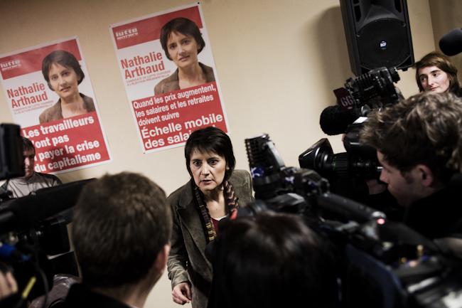 Nathalie Arthaud, porte parole de Lutte Ouvrière