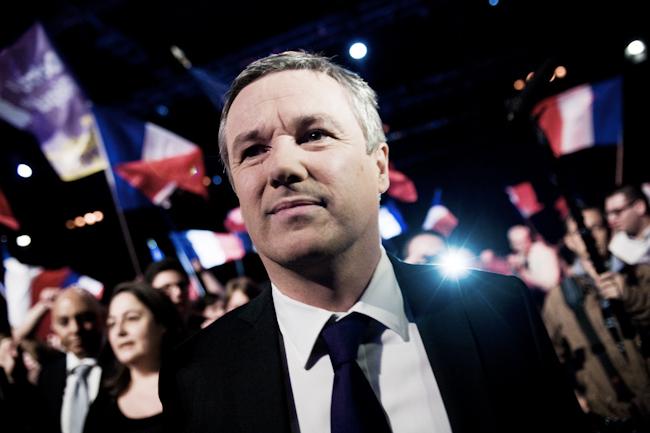 Meeting de Nicolas Dupont Aignan du parti Debout la Republique