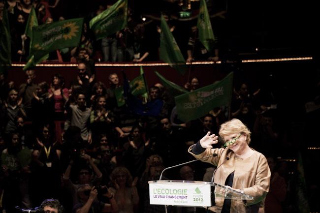 Discours d'Eva Joly, candidate à la présidentielle, lors du dernier meeting d'EELV