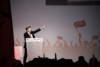 Meeting du Front de Gauche, avec Jean Luc-Mélenchon, candidat a la presidentielle, qui a réuni environ 40000 personnes, au parc des expositions a Paris le 19 avril 2012 thumbnail