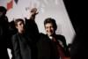 Meeting du Front de Gauche, avec Jean-Luc Mélenchon, candidat a la presidentielle, qui a réuni environ 40000 personnes, au parc des expositions a Paris le 19 avril 2012 thumbnail