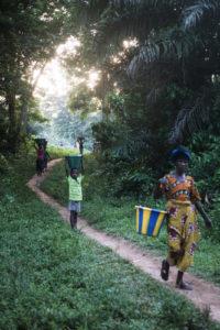 Réfugiés ivoiriens à Janzon, dans le comté de Grand Gedeh au Liberia. Mars 2011. Ivorian refugees in Janzon, Liberia. March 2011. thumbnail