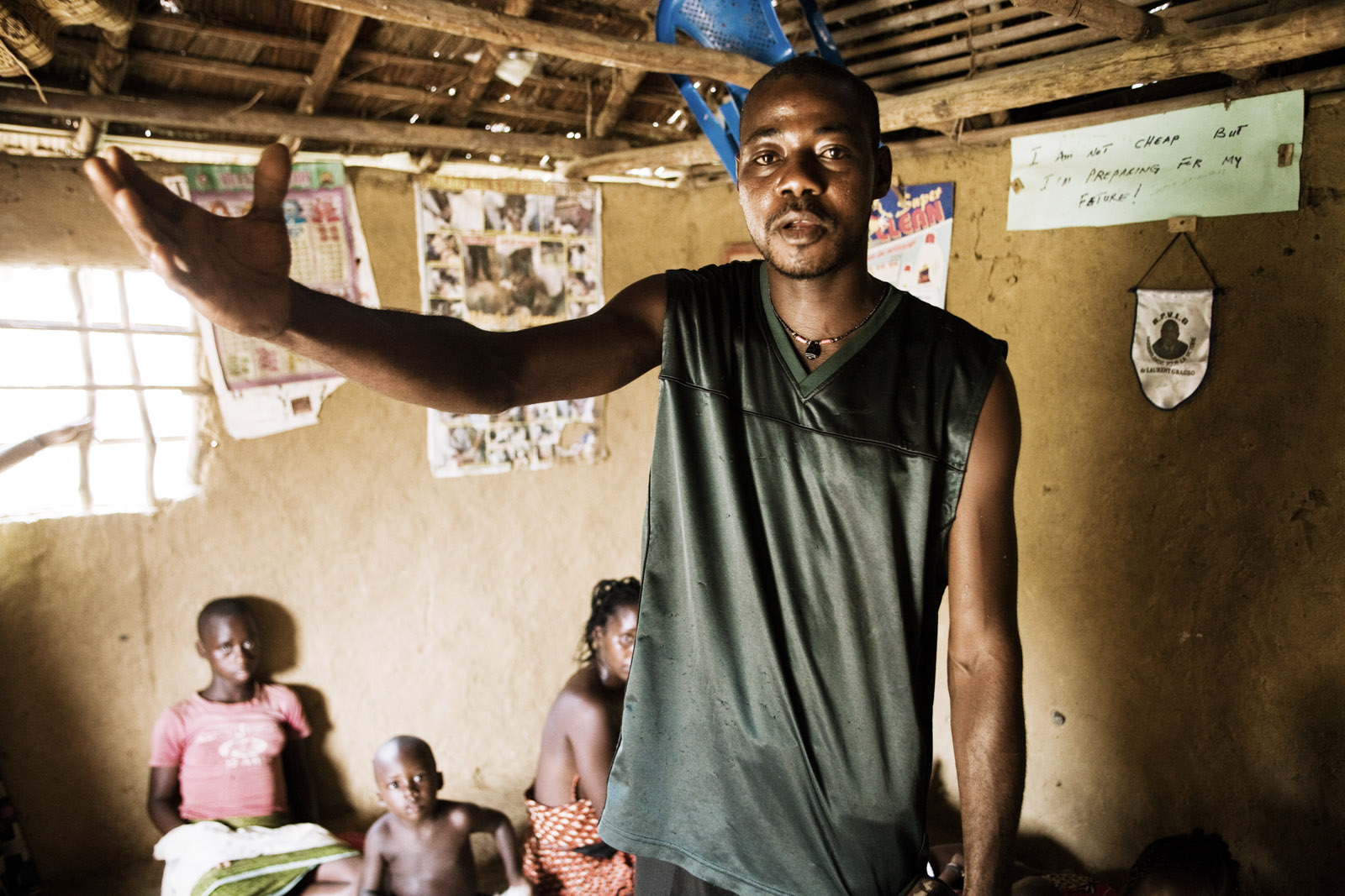 Refugies ivoiriens in Tempo, Liberia. Ivorian refugees in Tempo, Liberia.