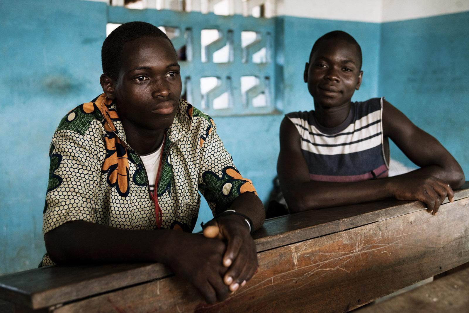 Refugies ivoiriens a Janzon, dans le comte de Grand Gedeh au Liberia. Ivorian refugees in Janzon, Grand Gedeh County, Liberia.