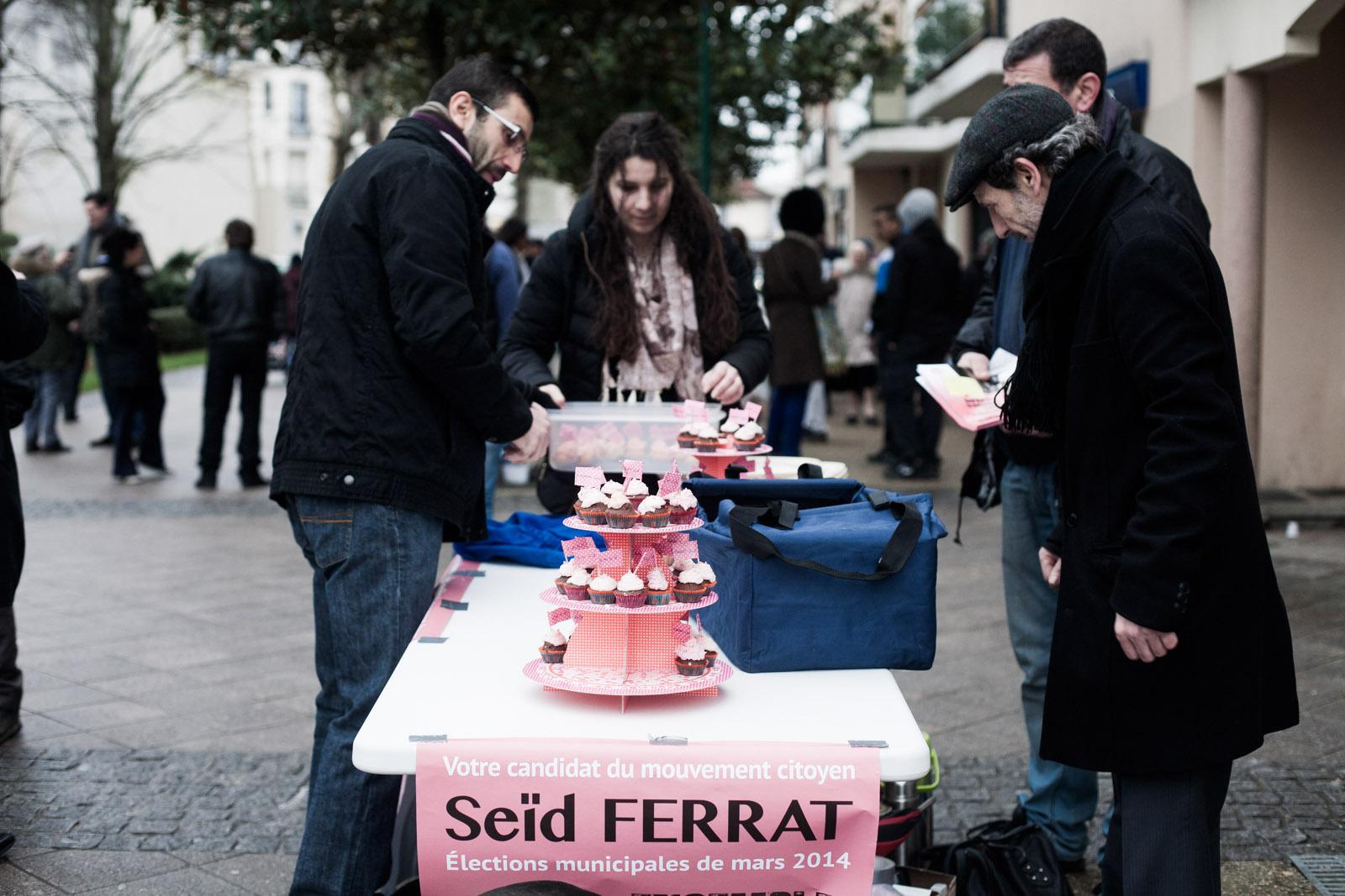 Seïd Ferrat, candidat d'une liste citoyenne à Sevran, le 8 février 2014
